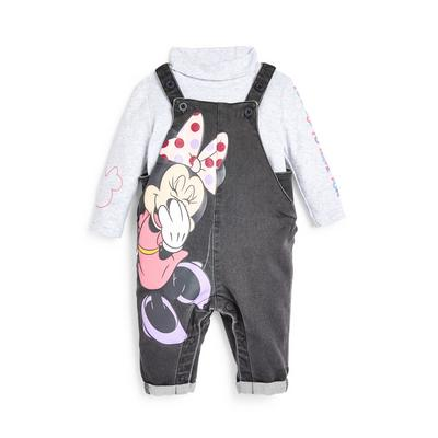 Baby Girl Disney Minnie Mouse Dungarees Set
