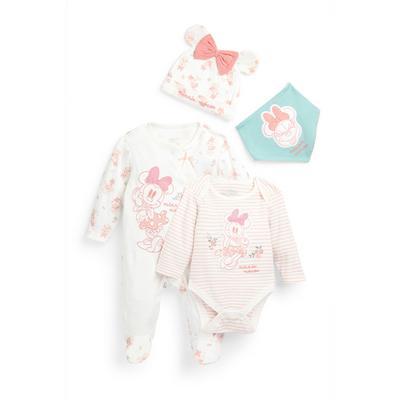 Vierdelig babysetje Disney Minnie Mouse voor pasgeboren meisjes