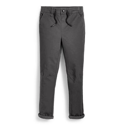 Pantalon gris en maille ado