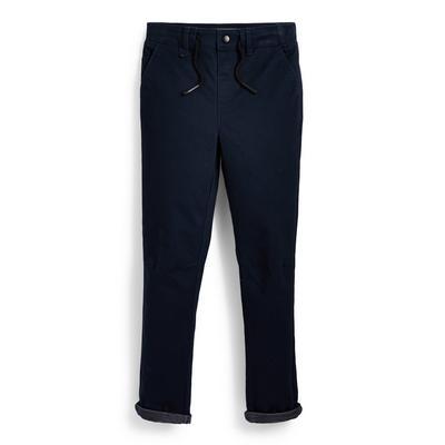 Older Boy Navy Knit Pants