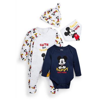 Newborn Baby Boy Disney Mickey Mouse Starter Set 4 Piece
