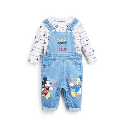 Baby Boy Disney Mickey Mouse Dungaree 2-In-1 Set