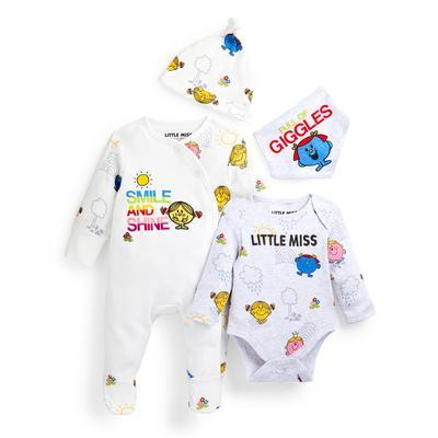 Newborn Baby Girl Little Miss Starter Set 4 Piece