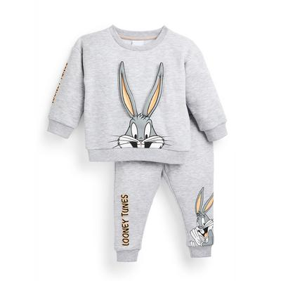Baby Boy Grey Looney Tunes Sweater And Joggers Set 2 Piece