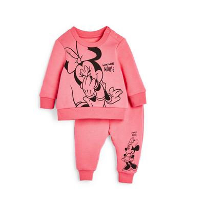 Baby Girl Pink Disney Minnie Mouse Leisure Set