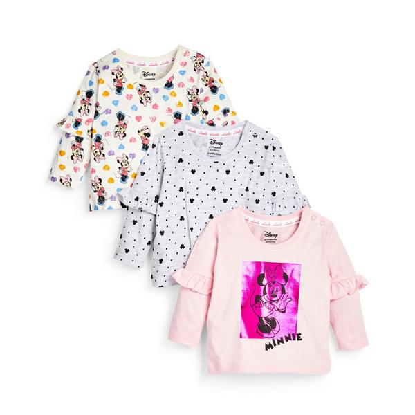Baby Girl Disney Minnie Mouse Longsleeve T-Shirts 3 Pack