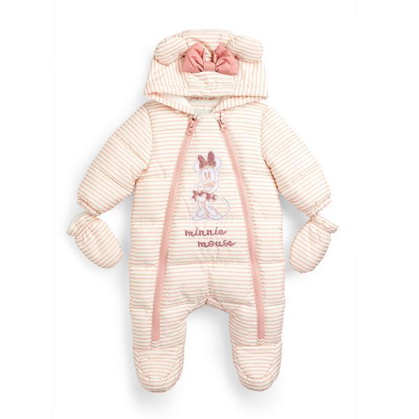 Newborn Baby Girl Pink Disney Minnie Mouse Snowsuit