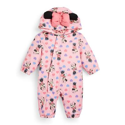 Baby Girl Pink Minnie Mouse Puddlesuit