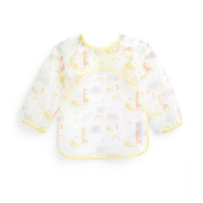 Baby Transparent Animal Print Coverall Bib