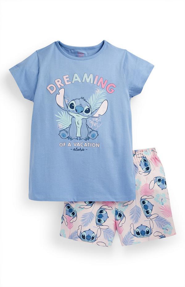 Older Girl Lilo And Stitch Short Pyjamas Set