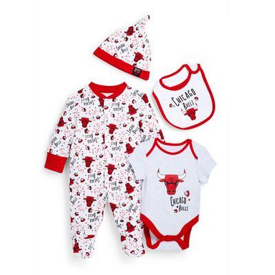 Newborn Baby NBA Chicago Bulls Starter Set 4 Piece
