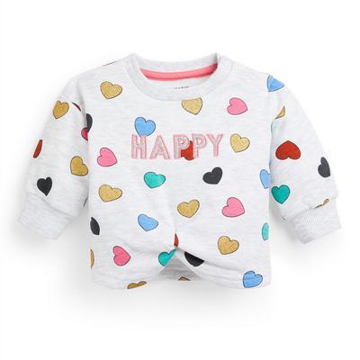 Rundhalspullover mit Herz-Print für Babys (M)