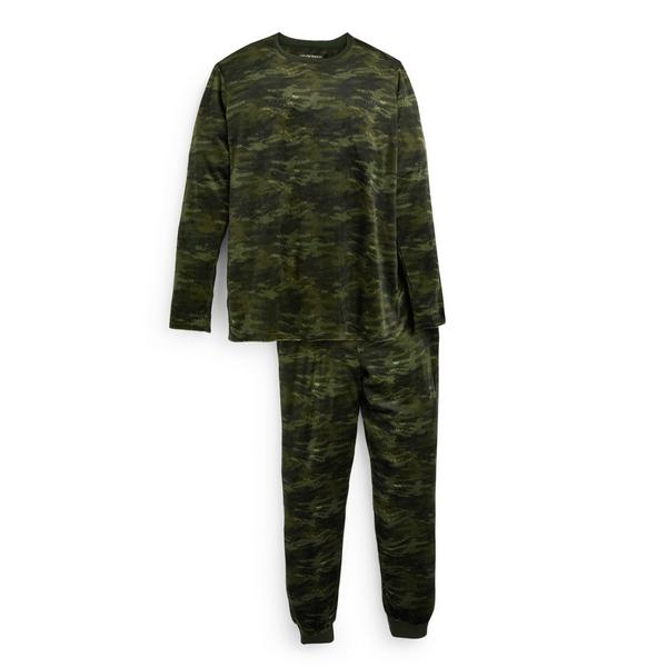 Older Boy Camouflage Minky Pyjamas Set