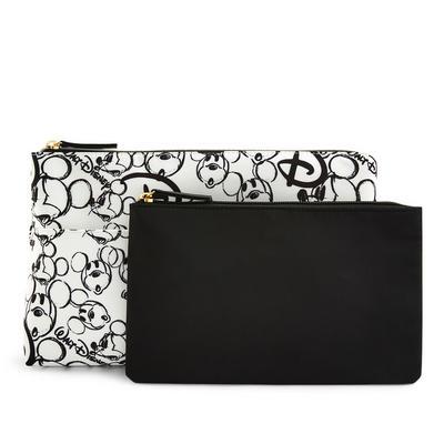 Black/White Nylon Disney Minnie Mouse 2-In-1 Toiletry Bag Set