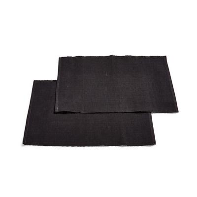 Black Woven Placemats 2 Pack