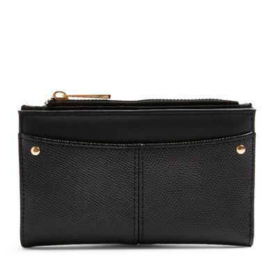 Black Foldout Medium Wallet