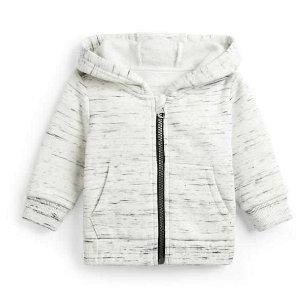 Baby Boy Grey Zip Through Hoodie