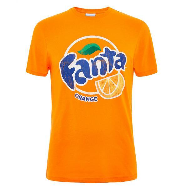 T-shirt arancione con logo Fanta