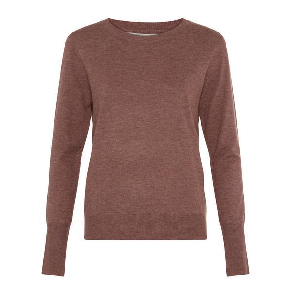 Brown Soft Crew Neck Sweater
