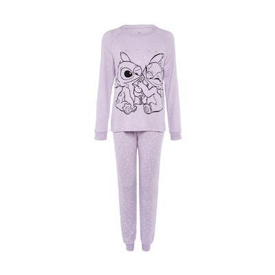 Lilac Disney Lilo And Stitch Pajama Set