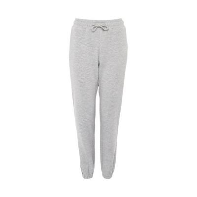 Gray Chevron Quilted Joggers