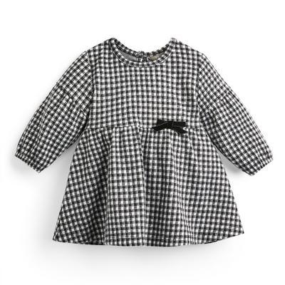 Baby Girl Monochrome Ponte Dress