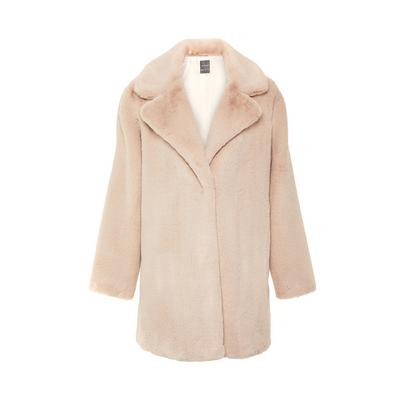 Ivory Faux Fur Longline Glam Coat