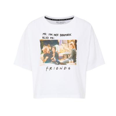 White Friends Print T-Shirt