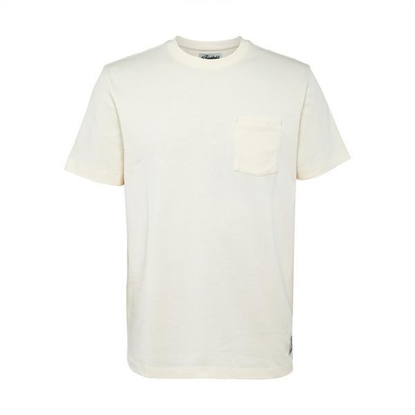 Ivoorwit Stronghold-T-shirt met borstzakje