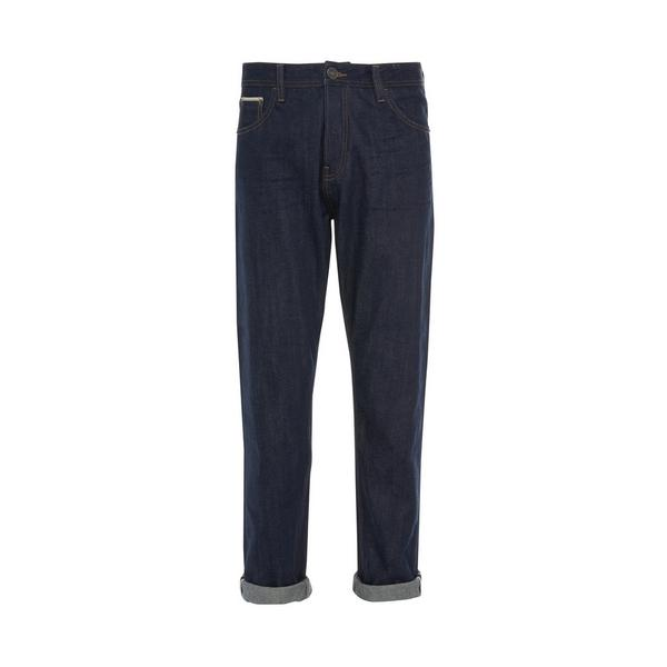 Donkerblauwe Stronghold-jeans met relaxte pasvorm