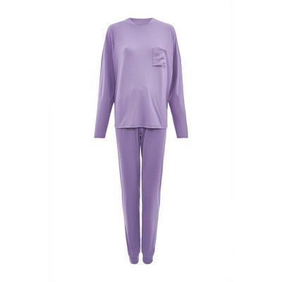 Pijama suave lila de canalé