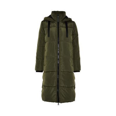 Manteau long kaki matelassé à finitions contrastées Primark Cares