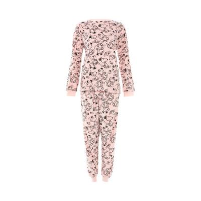 Pink Minky Snoopy Print Pyjamas Set