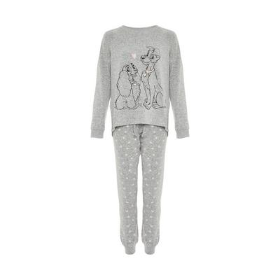 Gray Supersoft Disney Lady And The Tramp Pajamas Set