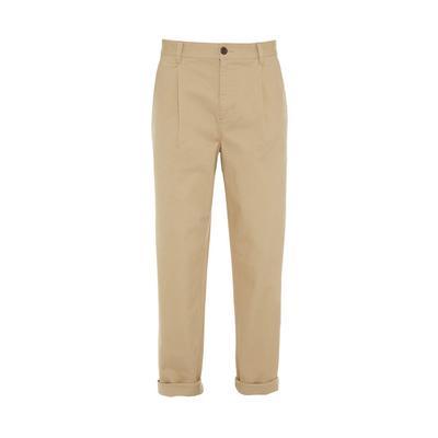 Pantalon chino beige plissé et décontracté Stronghold