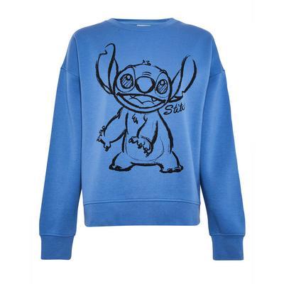 """Blauer Pullover mit """"Lilo & Stitch""""-Print"""