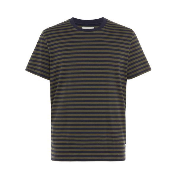 Donkergrijs gestreept Stronghold-T-shirt