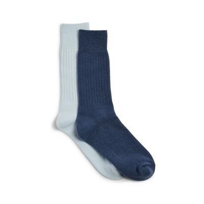 Modre nogavice, odišavljene z evkaliptusom Wellness, 2 para