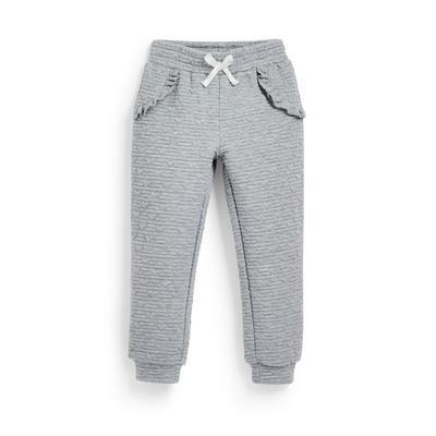 Pantalon de jogging gris matelassé fille