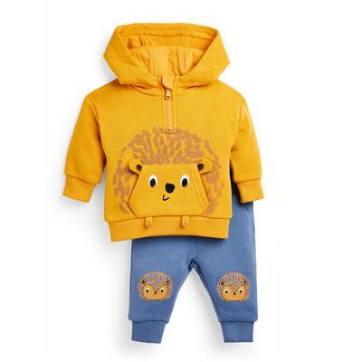 Baby Boy Yellow Hedgehog Leisure Set 2 Piece