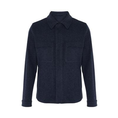 Navy Twill Patch Pocket Tailored Jacket