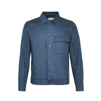 Blue Twill Patch Pocket Tailored Jacket