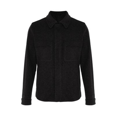 Charcoal Twill Patch Pocket Tailored Jacket