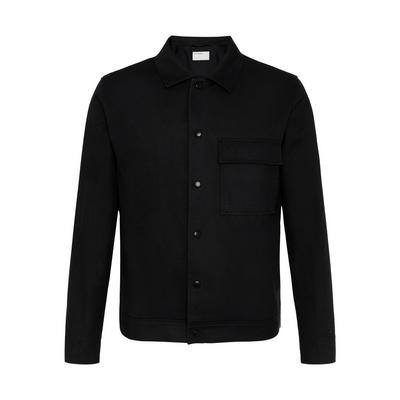 Black Twill Patch Pocket Tailored Jacket