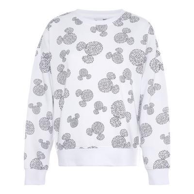 Sweat-shirt blanc à imprimé Disney Mickey Mouse