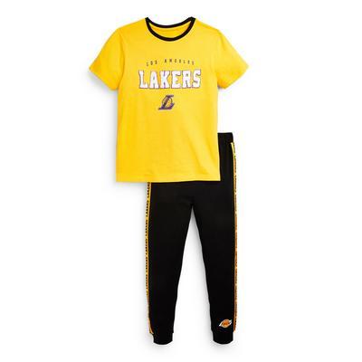 Pijama amarillo de LA Lakers para niño mayor
