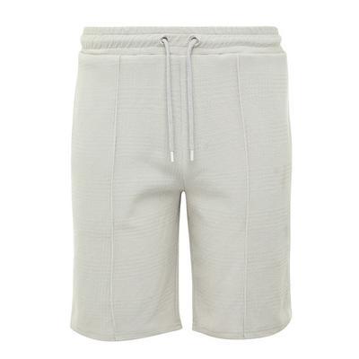 Shorts grigio chiaro Kem jacquard con laccetti in vita