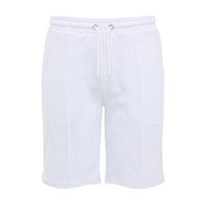 Shorts bianchi Kem jacquard con laccetti in vita