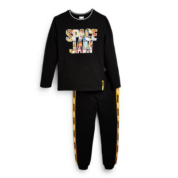 "Schwarzes ""Space Jam"" Pyjamaset (kleine Jungen)"