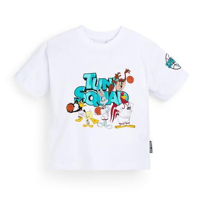 Wit T-shirt Space Jam Squad voor jongens